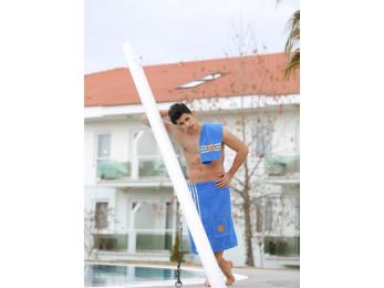 Набор для сауны мужской PHILIPPUS (3 предмета) - Светло-синий