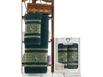 Набор полотенец TWO DOLPHINS GREEK CLASS (2 шт.) Зелёный