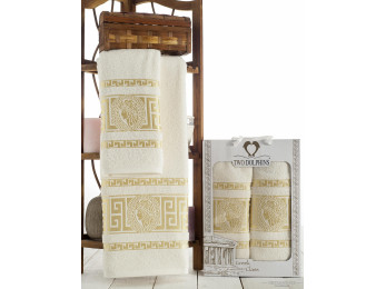 Набор полотенец TWO DOLPHINS GREEK CLASS (2 шт.) Кремовый