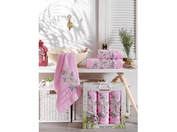 Набор полотенец JUANNA PAPATYA (3 шт.) Розовый