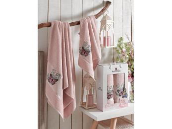 Набор полотенец MERZUKA BUTTERFLY (2 шт.) Розовый