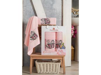 Набор полотенец MERZUKA BUTTERFLY (2 шт.) Светло-розовый