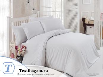 Постельное белье DO&CO  NARIN Сатин с гипюром (Евро) Белый