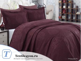 Покрывало DANTELA VITA MELIS (260x260 см) Бордовый + 2 наволочки