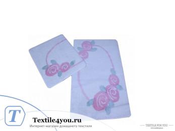 Набор ковриков для ванной DO&CO  ROSELIN (60x100 см; 50x60 см) Розовый