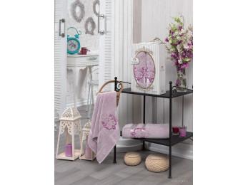 Набор полотенец TWO DOLPHINS HURREM (2 шт.) Светло-розовый