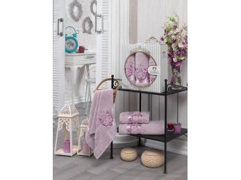 Набор полотенец TWO DOLPHINS HURREM (3 шт.) Светло-розовый