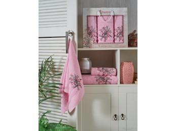 Набор полотенец JUANNA BATIK (3 шт.) Розовый