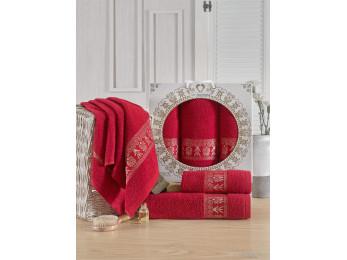 Набор полотенец TWO DOLPHINS TALISCA (3 шт.) Бордовый