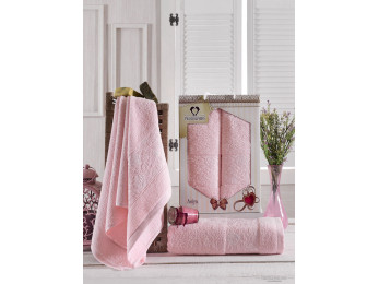 Набор полотенец TWO DOLPHINS  ASIYA (2 шт.) Светло-розовый