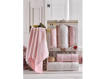 Набор полотенец TWO DOLPHINS  ASIYA (3 шт.) Светло-розовый