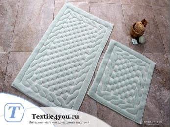 Набор ковриков для ванной DO&CO  BAMBI (60x100 см; 50x60 см) Мятный
