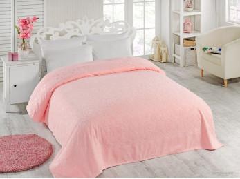Простынь махровая TWO DOLPHINS  ASIYA (200x220 см) - Розовый