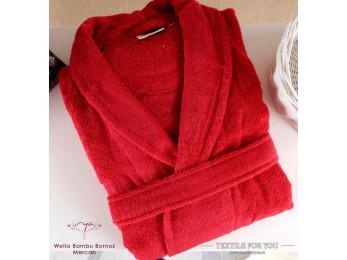 Халат махровый (Унисекс) IRYA WELLA (S-M) - Красный