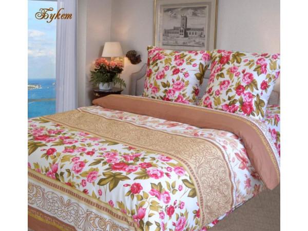 Постельное белье Хлопковый Рай Бязь КПБ Букет Бязь ГОСТ (2 спальный)