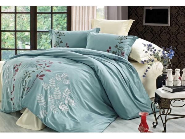 Постельное белье СайлиД D-158 Сатин с вышивкой (2 спальный)