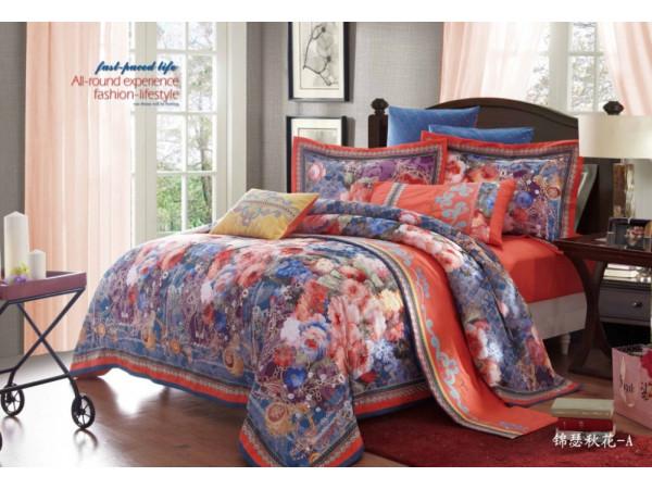 Постельное белье СайлиД D-167 Сатин с вышивкой (2 спальный)