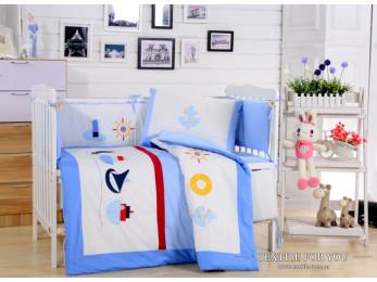 Постельное белье для новорожденных Valtery DK-13 (+бортики в кроватку)
