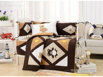 Постельное белье для новорожденных Valtery DK-24 (+бортики в кроватку)