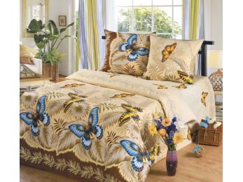 Постельное белье Хлопковый Рай Бязь КПБ Эйфория Бабочки Бязь (1.5 спальный)