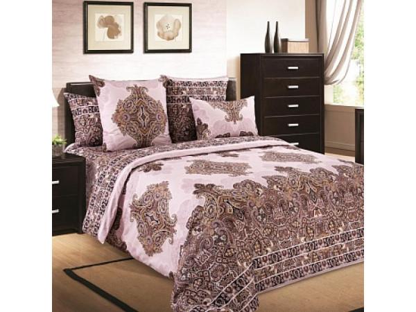 Постельное белье Хлопковый Рай Бязь КПБ Индонезия розовый цвет Бязь (1.5 спальный)
