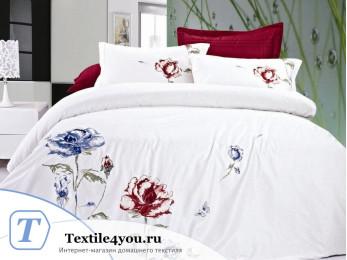 Постельное белье Famille Сатин КПБ Хлопок сатин с вышивкой ES-10 (Семейный)