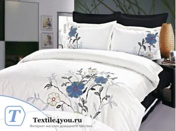 Постельное белье Famille Сатин КПБ Хлопок сатин с вышивкой ES-14 (Семейный)