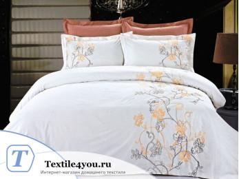 Постельное белье Famille Сатин КПБ Хлопок сатин с вышивкой ES-17 (Семейный)