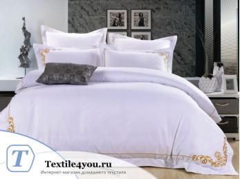Постельное белье Famille Сатин КПБ Хлопок сатин с вышивкой ES-19 (Семейный)