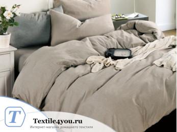 Постельное белье Valtery Лён с хлопком КПБ LE-01 (1.5 спальный)
