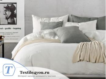Постельное белье Valtery Лён с хлопком КПБ LE-02 (1.5 спальный)