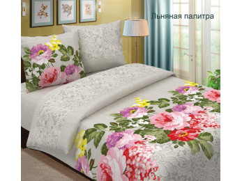Постельное белье Хлопковый Рай Бязь КПБ Льняная палитра Бязь (1.5 спальный)
