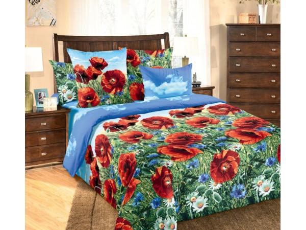 Постельное белье Хлопковый Рай Бязь КПБ Маковый цвет Бязь (2 спальный)
