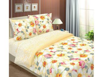 Постельное белье Хлопковый Рай Бязь КПБ Нарциссы вид бежевый Бязь (2 спальный)