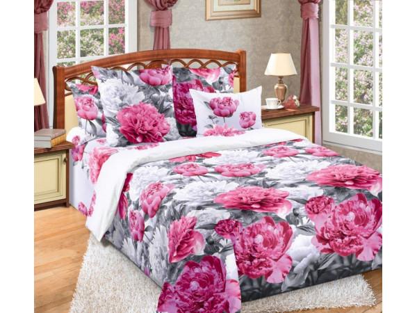 Постельное белье Хлопковый Рай Бязь КПБ Пионы Бязь (2 спальный)