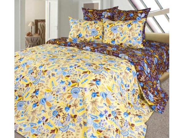Постельное белье Хлопковый Рай Бязь КПБ Подарок коричневый Бязь (1.5 спальный)