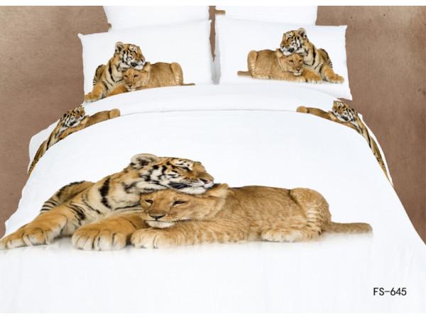 Постельное белье Famille Сатин КПБ RS-150 (2 спальный)