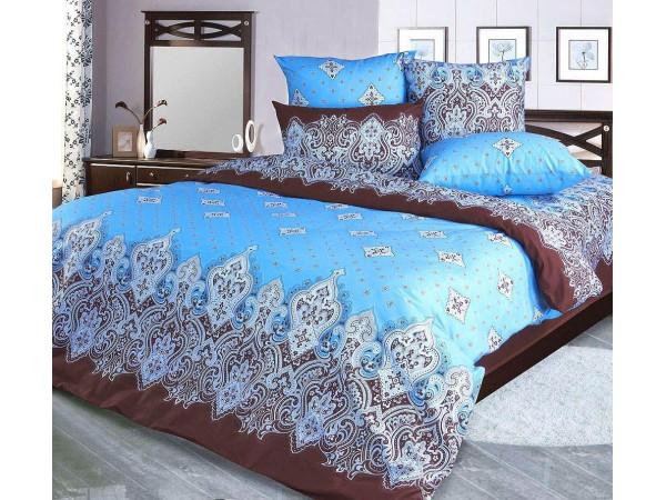 Постельное белье Хлопковый Рай Бязь КПБ Садко синий Бязь (1.5 спальный)