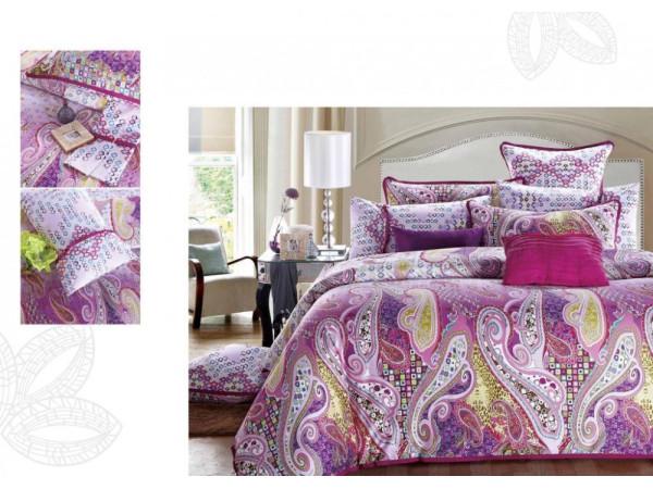 Постельное белье Famille Сатин КПБ SDS-45 (2 спальный)
