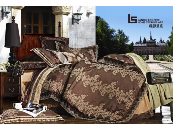 Постельное белье Famille Сатин КПБ TJ-17 (Евро)