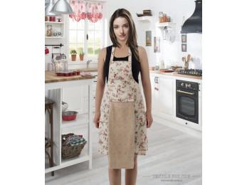 Фартук кухонный KARNA с велюровой салфеткой - (Бежевый)