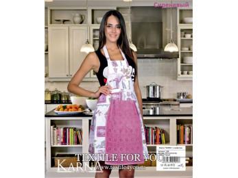 Фартук кухонный KARNA с велюровой салфеткой - (Сиреневый)