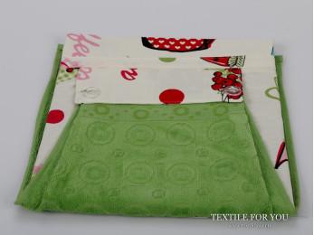 Фартук кухонный KARNA с велюровой салфеткой - (Зеленый)