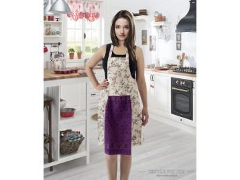 Фартук кухонный KARNA с велюровой салфеткой - (Фиолетовый)