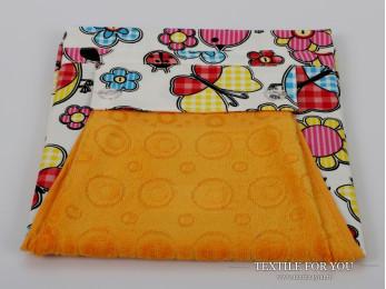 Фартук кухонный KARNA с велюровой салфеткой - (Желтый)