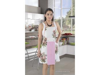 Фартук кухонный KARNA с махровой салфеткой - (Розовый)