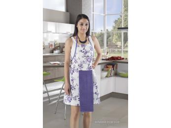 Фартук кухонный KARNA с махровой салфеткой - (Фиолетовый)