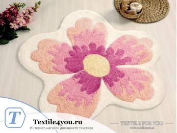 Коврик для ванной IRYA LAVIN цветок - (100x100 см) - Розовый