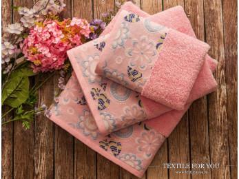 Полотенце махровое IRYA MABELLA - 50x90 см (1 шт.) - Розовый
