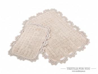 Набор ковриков для ванной IRYA MINA (60x90 см; 40x60 см) Бежевый